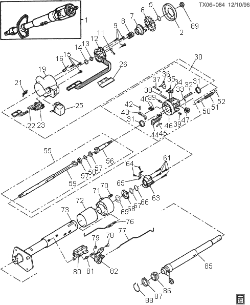 gm parts diagrams exploded views | automotive parts ... 1978 f250 steering column wiring diagram
