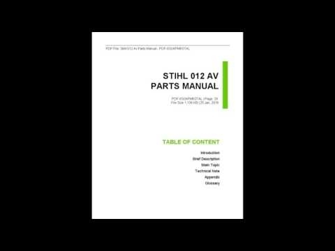 Stihl 012 Av Parts Manual - Youtube in Stihl 012 Av Parts Diagram