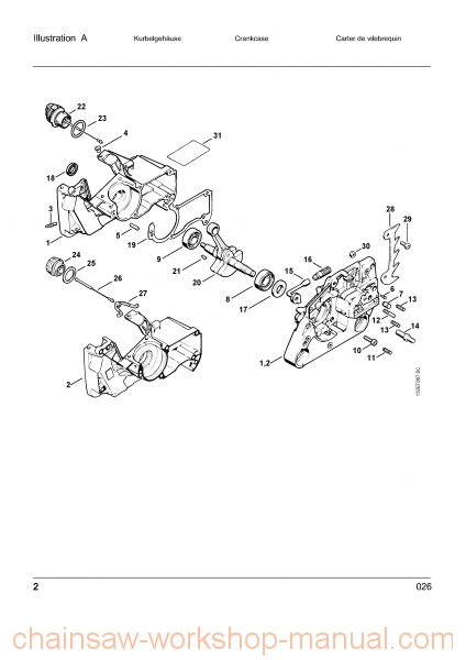 Stihl 026 Parts List Manual - Chainsaw Workshop Manuals throughout Stihl Ms 260 Parts Diagram