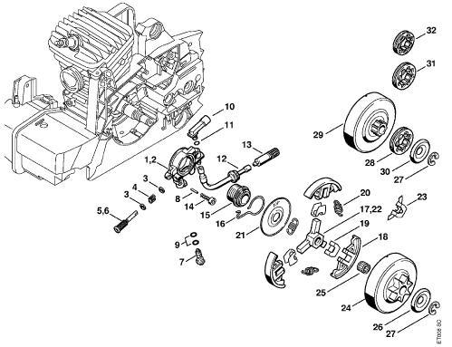 034 Stihl    Chainsaw    Parts    Diagram      Automotive Parts