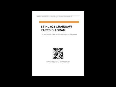Stihl 028 Chainsaw Parts Diagram - Youtube in Stihl 028 Super Parts Diagram