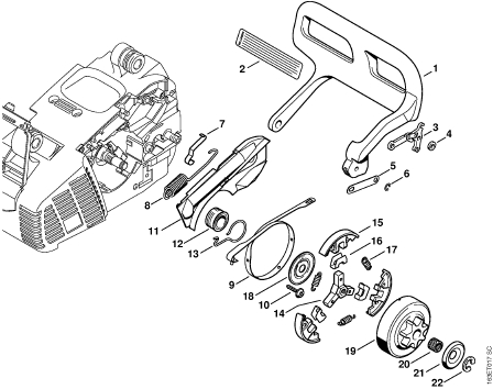 Stihl Ms 310 Chainsaw Parts Diagram Sketch Coloring Page pertaining to Stihl Ms 310 Parts Diagram