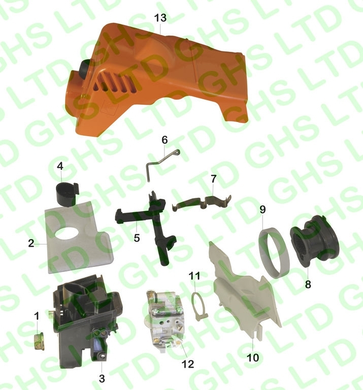 Stihl Ms170 Air Filter & Shroud with regard to Stihl Ms 360 Parts Diagram