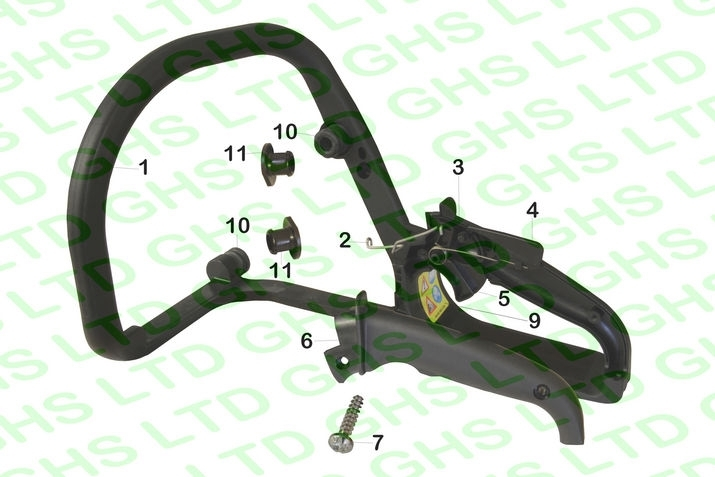 Stihl Ms170 Handle Frame intended for Stihl Ms 270 Parts Diagram