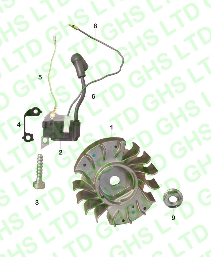 Stihl Ms170 Ignition System intended for Stihl Chainsaw Ms170 Parts Diagram