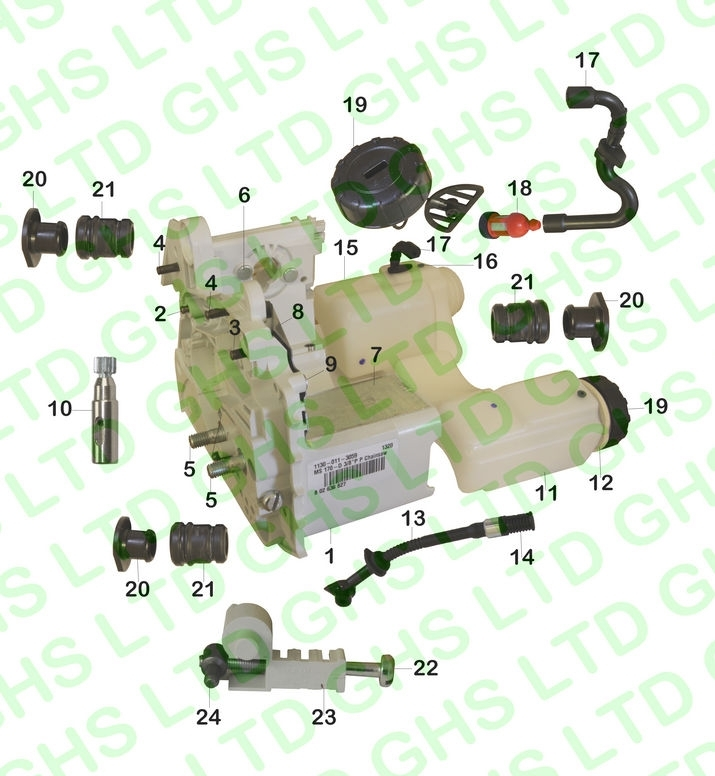Stihl Ms180 Engine Housing pertaining to Stihl 024 Chainsaw Parts Diagram