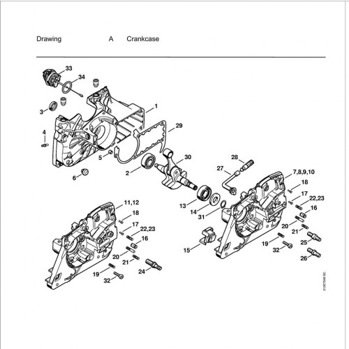 Stihl Ms361 Spare Parts List inside Stihl Ms 361 Parts Diagram
