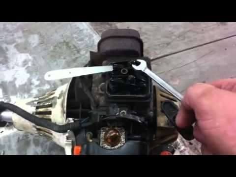 Stihl Trimmer Repair How To Adjust The Valves On A 4Mix Stihl with Stihl Fs 76 Parts Diagram
