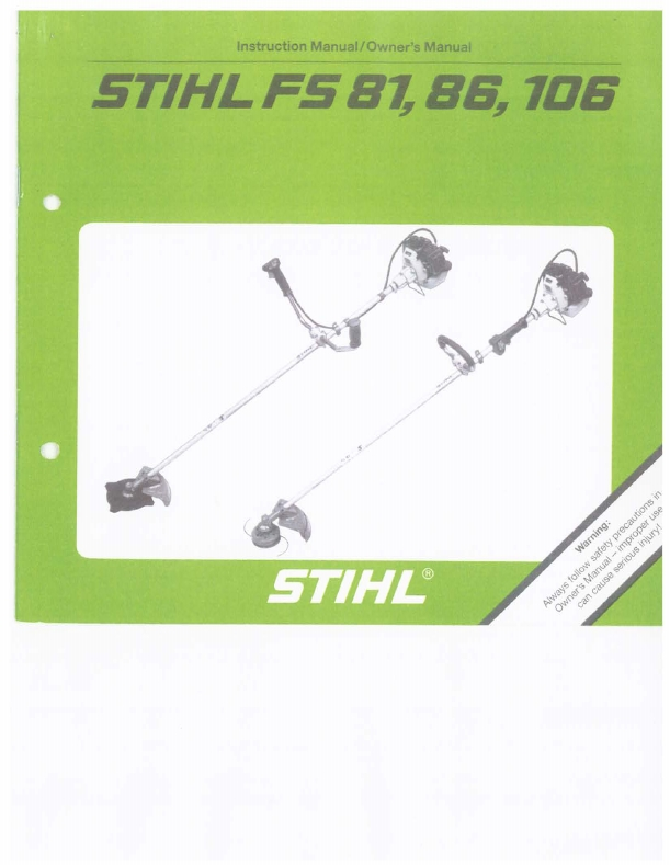 Stihl Trimmers Fs 81 Pdf Owner's Manual Free Download & Preview in Stihl Fs 81 Parts Diagram