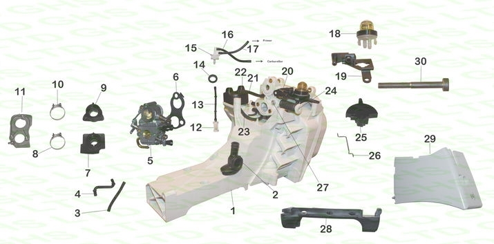 Stihl Ts410 Fuel Tank within Stihl Ms 280 Parts Diagram