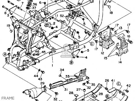 Stopper, Main Stand Yfm350Fww 1989 Big Bear 1162714400 in Yamaha Big Bear Parts Diagram