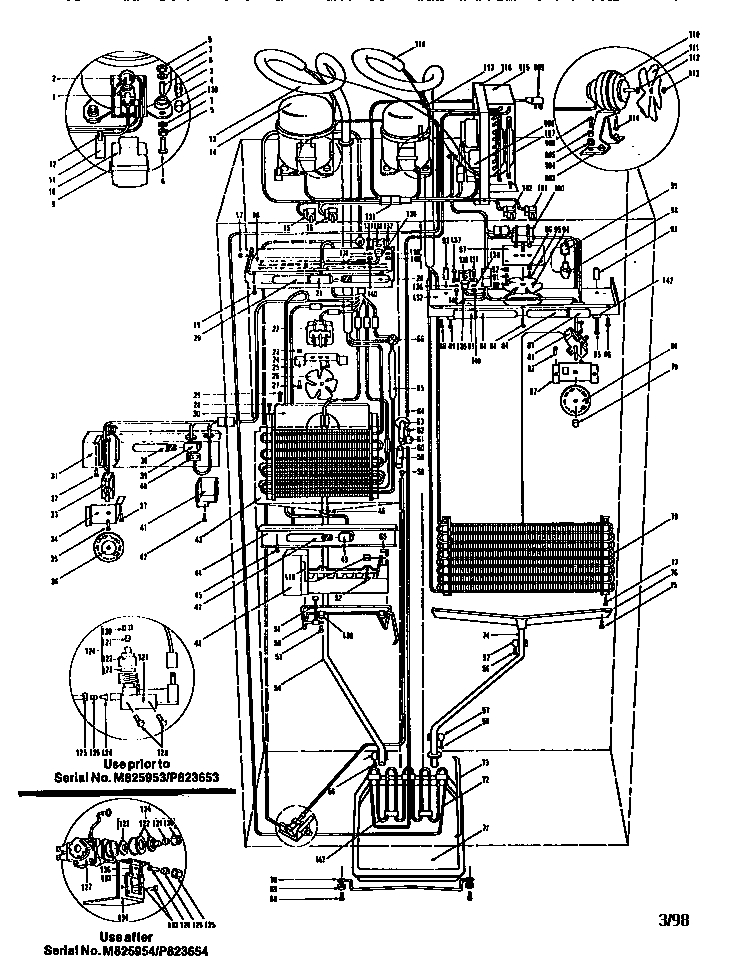 Sub-Zero Refrigerator System View Parts | Model 561 | Sears with Sub Zero Refrigerator Parts Diagram