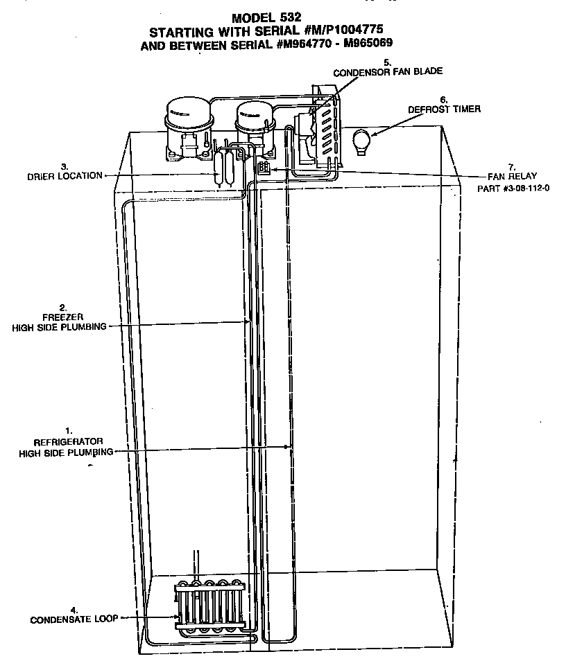 Sub-Zero Side-By-Side Refrigerator Parts | Model 532 | Sears throughout Sub Zero 532 Parts Diagram