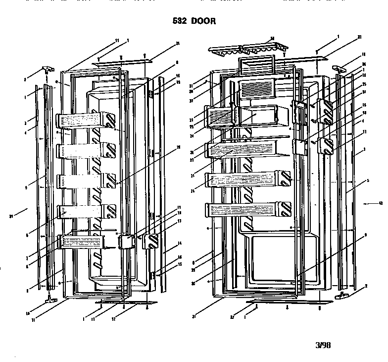 Sub-Zero Side-By-Side Refrigerator Parts | Model 532 | Sears with regard to Sub Zero 532 Parts Diagram