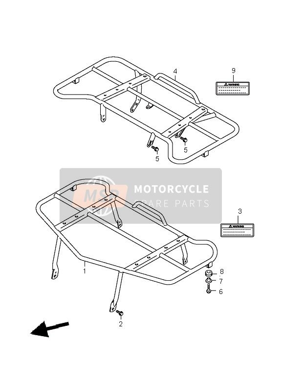 Suzuki Lt-A700X Kingquad 4X4 2007 Spare Parts - Msp with Suzuki King Quad Parts Diagram