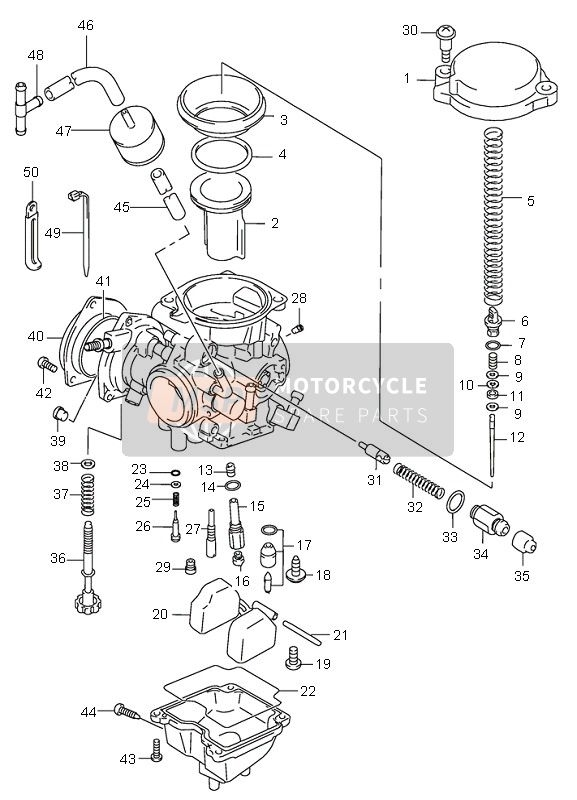 Suzuki Lt-F300F Kingquad 4X4 2000 Spare Parts - Msp pertaining to Suzuki King Quad Parts Diagram