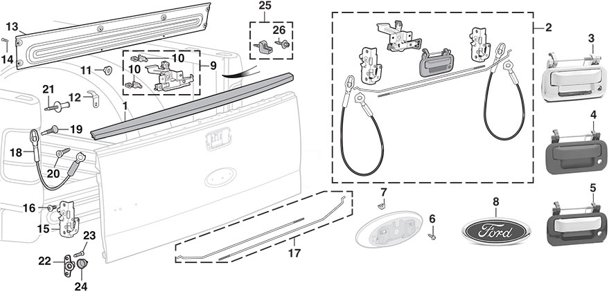 2010 F150 Tailgate Diagram on 2005 hyundai elantra problems