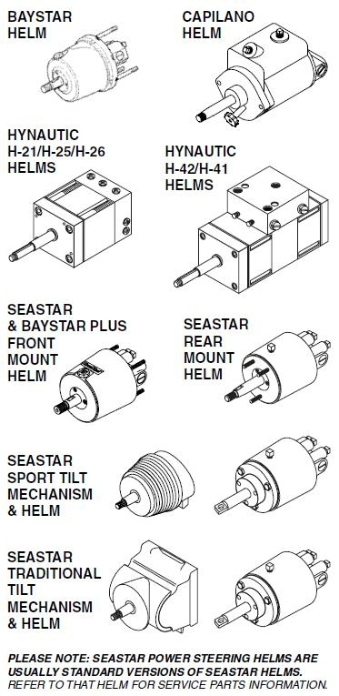 Teleflex Seastar Hydraulic Parts Guide with regard to Seastar Hydraulic Steering Parts Diagram