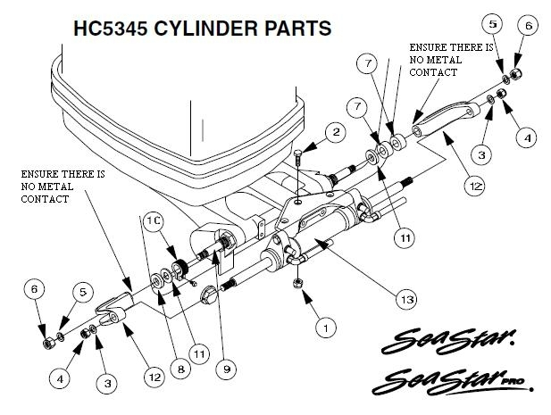 Teleflex Seastar Hydraulic Parts Guide within Seastar Hydraulic Steering Parts Diagram