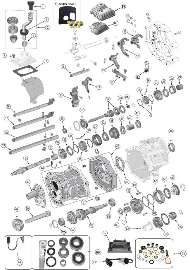 jeep wrangler wiring parts 1995 jeep wrangler yj parts diagram #1