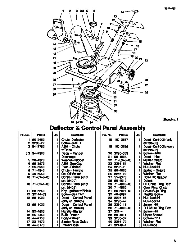 Toro Ccr 100 1000E 38400 38405 20 Inch Single Stage Snow Blower regarding Toro Ccr 2000 Parts Diagram
