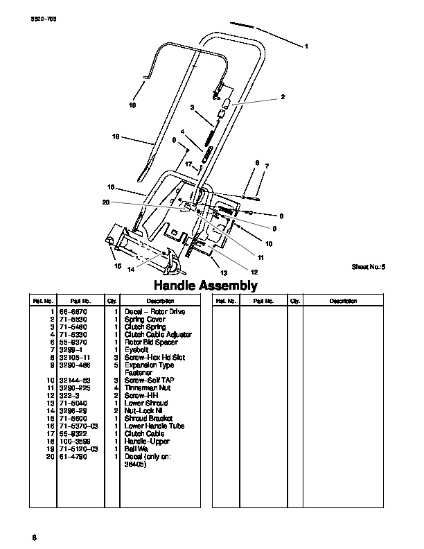 Toro Ccr 100 1000E 38400 38405 20 Inch Single Stage Snow Blower within Toro Ccr 2000 Parts Diagram