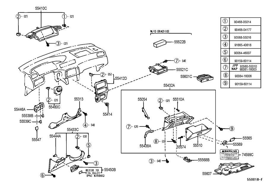 Toyota Camry Interior Parts Diagram | Wiring Diagram And Fuse Box with Toyota Camry Interior Parts Diagram