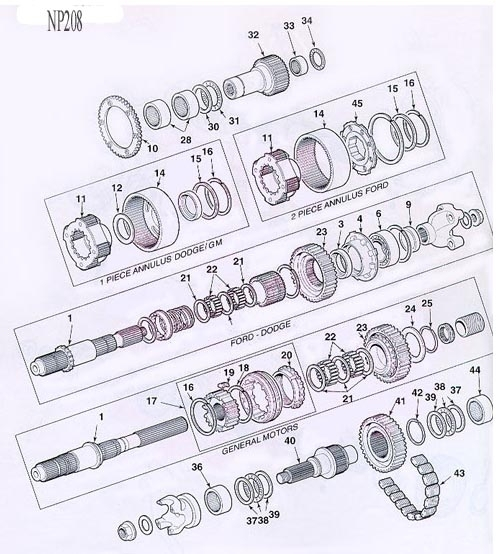 Transfer Case Parts Diagram inside Gm Parts Diagrams Exploded Views