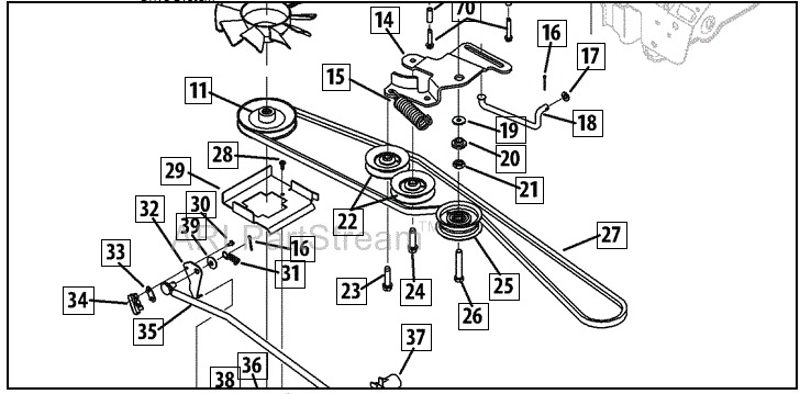 cub cadet lt1045 parts diagram