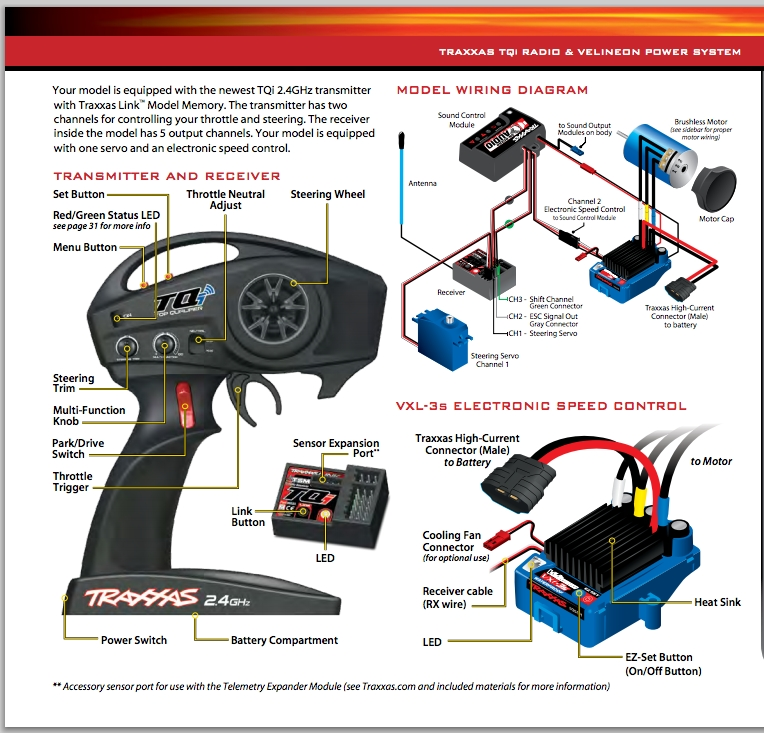Traxxas Slash 2Wd Or 4Wd On-Board Audio Sound Control Module for Traxxas Slash 4X4 Parts Diagram