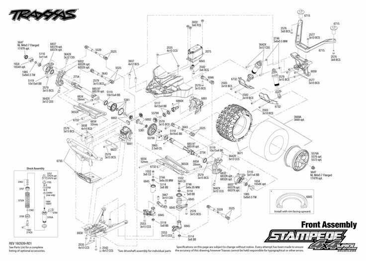 traxxas rustler vxl parts diagram