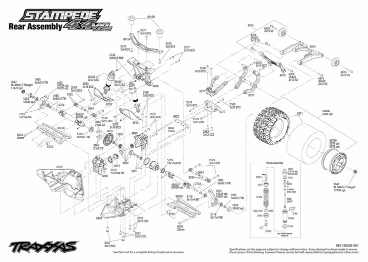 Traxxas Stampede Parts Diagram | Wiring Diagram And Fuse Box Diagram with Traxxas Stampede Vxl Parts Diagram