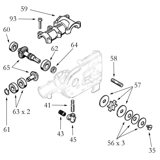 Treestuff - Stihl Compatible Ht Pole Pruner Gearhead Small Parts with Stihl Ht 101 Parts Diagram