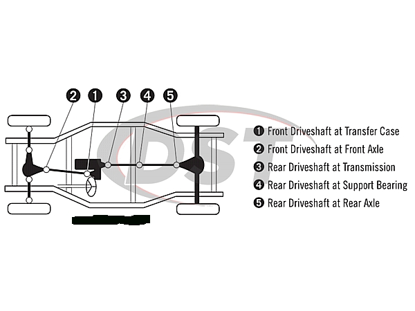 U Joint Package - Chevrolet Silverado 1500 intended for 2005 Chevy Silverado Parts Diagram
