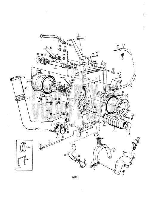 Volvo Penta Exploded View / Schematic Connecting Components Aq in Volvo 280 Outdrive Parts Diagram