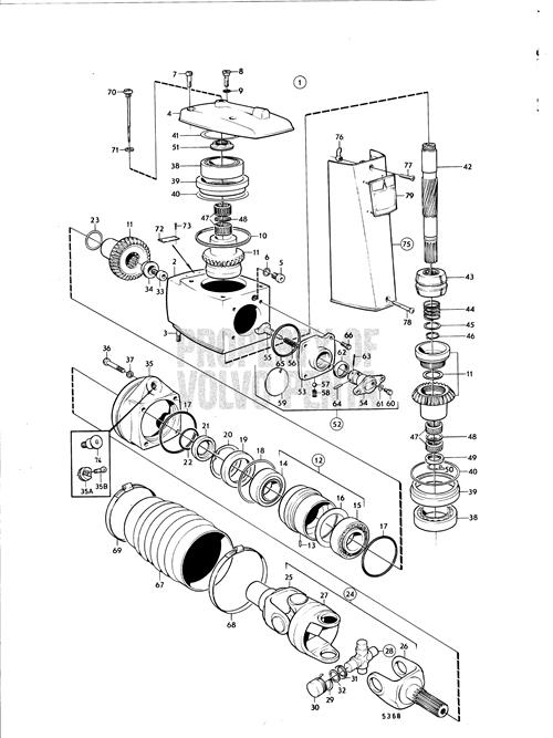 volvo 280 outdrive parts diagram