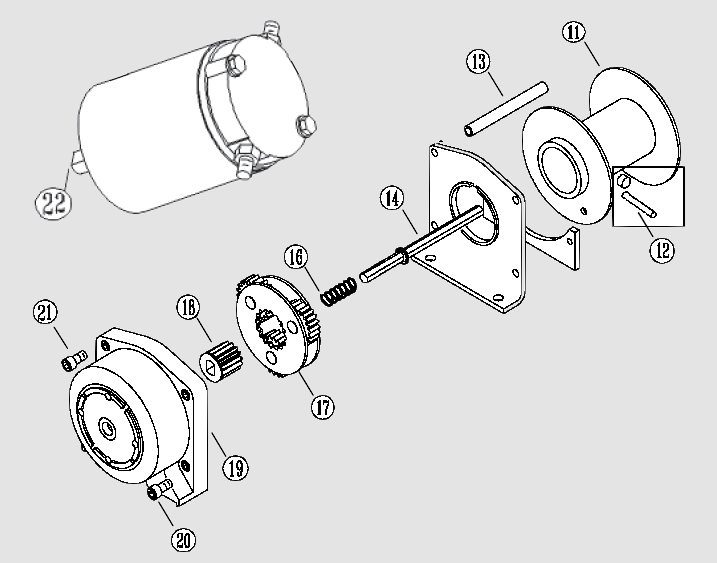 Warn 2.5 Winch Teardown - Yamaha Grizzly Atv Forum regarding Warn Winch 2500 Parts Diagram