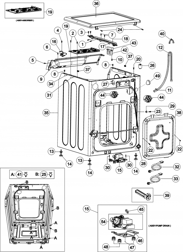 Washer 5 Best Images Of Maytag Washer Parts Diagram Maytag Neptune for Maytag Performa Washer Parts Diagram
