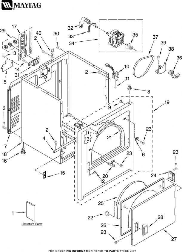 maytag centennial washer parts diagram