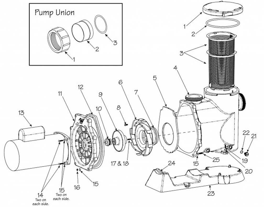 Waterway Svl56 Pump with regard to Ao Smith Pool Pump Motor Parts Diagram