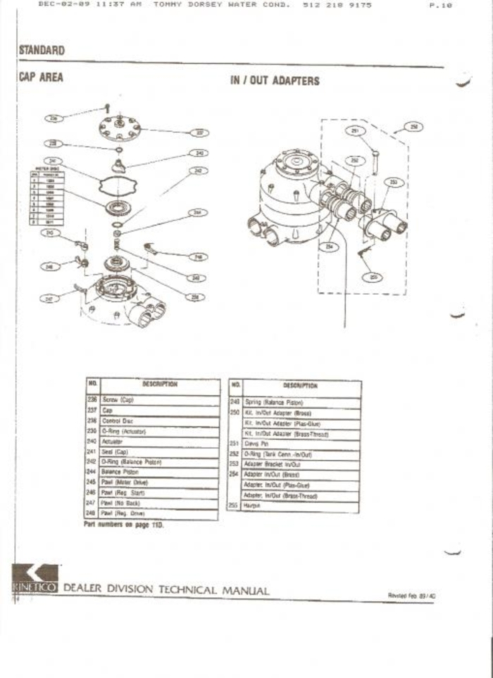 We Service All Types Of Water Softeners We Also Carry All The in Kinetico Water Softener Parts Diagram