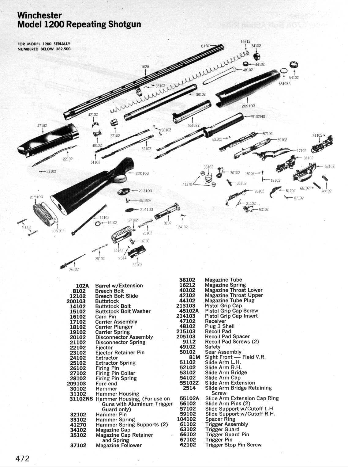 Win1200Schematic with regard to Marlin Glenfield Model 60 Parts Diagram