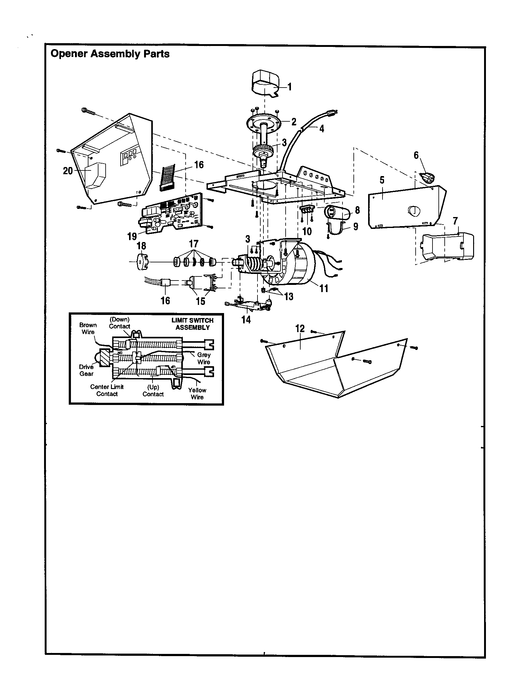 Craftsman garage door opener parts diagram automotive