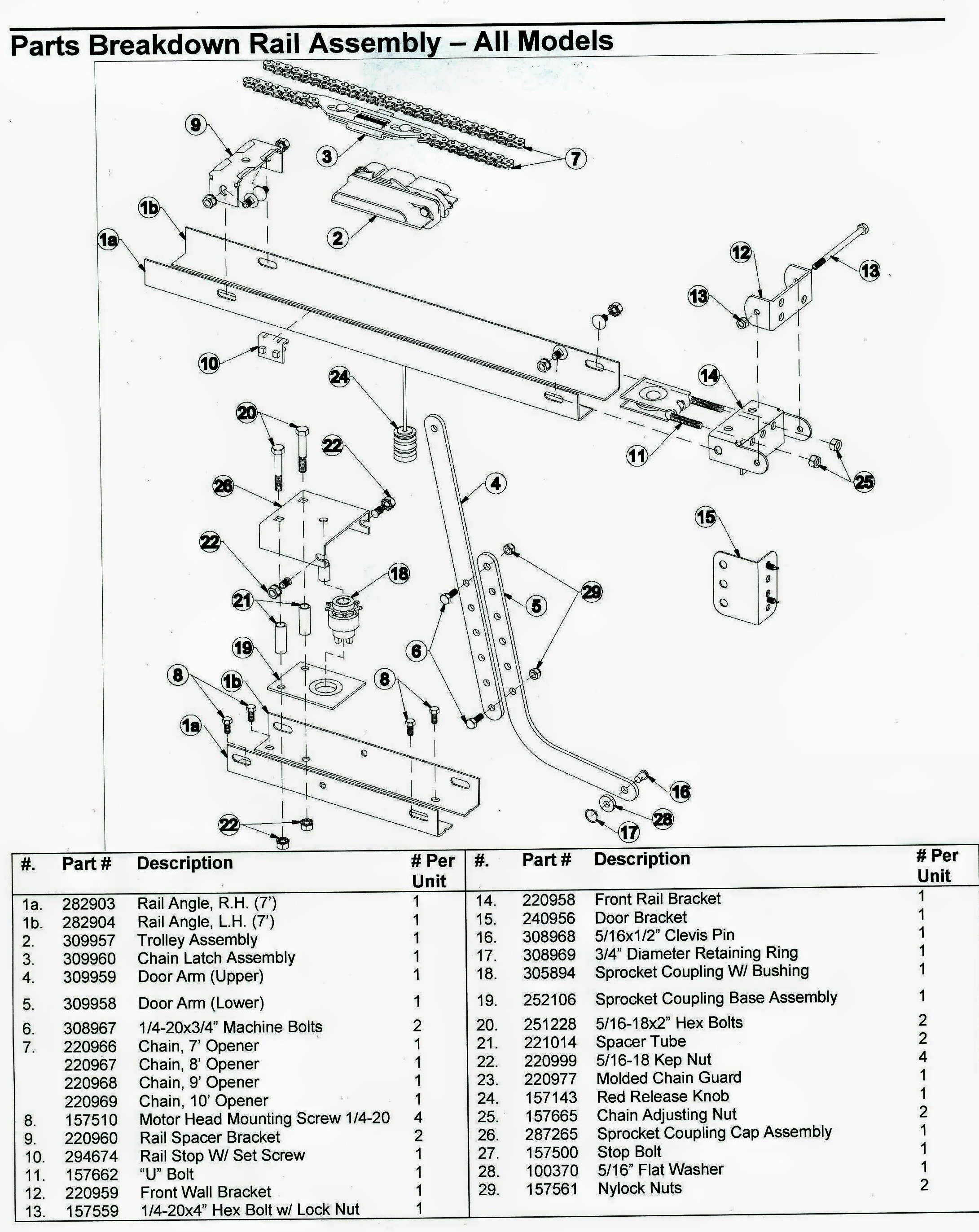 Craftsman Garage Door Opener Parts Diagram Automotive Parts