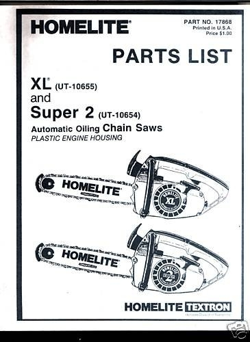 Xl & Super 2,, Homelite Chain Saw Parts List throughout Homelite Super 2 Parts Diagram