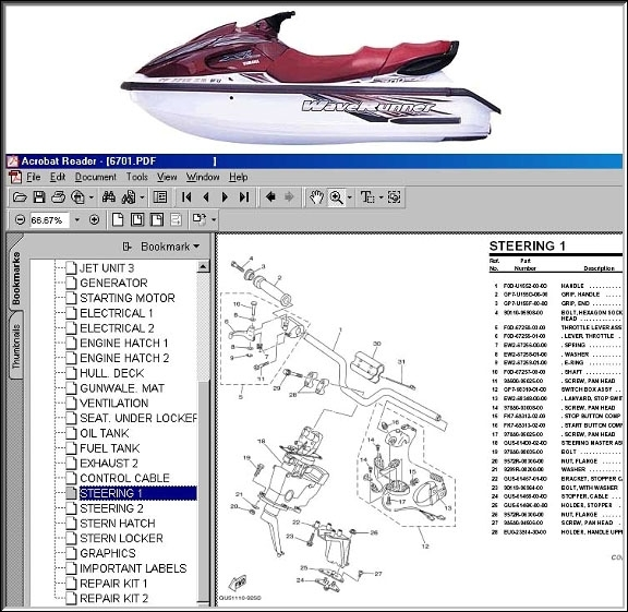 Yamaha Gp760 Wiring Diagram - Wiring Diagram And Schematic with Yamaha Jet Ski Parts Diagram