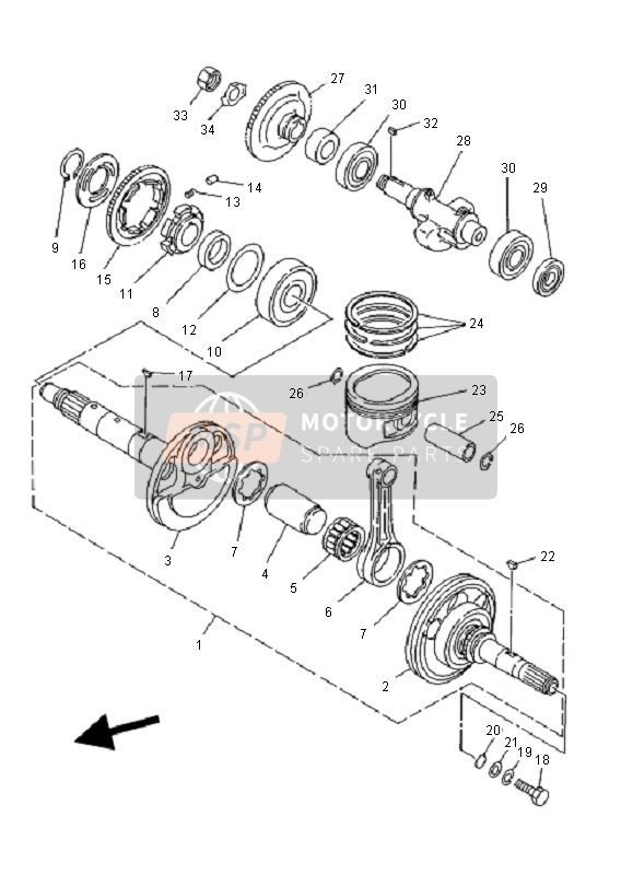 Yamaha Yfm400Fw Kodiak Manual 2001 Spare Parts - Msp with Yamaha Kodiak 400 Parts Diagram