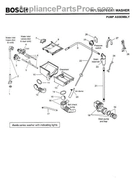 Zanussi Fj1214 91483700100 Washing Machine Hydraulic System Spare regarding Bosch Exxcel Dishwasher Parts Diagram