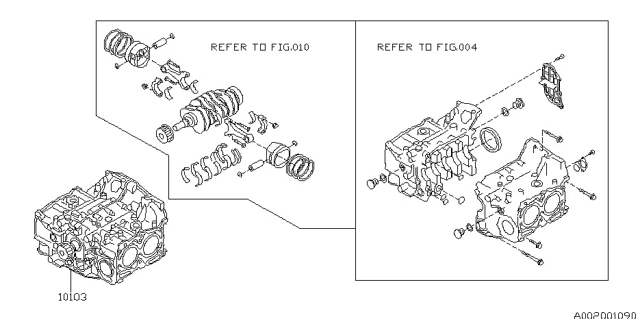 10103Ab330 - Genuine Subaru Short Block Engine Assembly intended for 2002 Subaru Wrx Engine Diagram