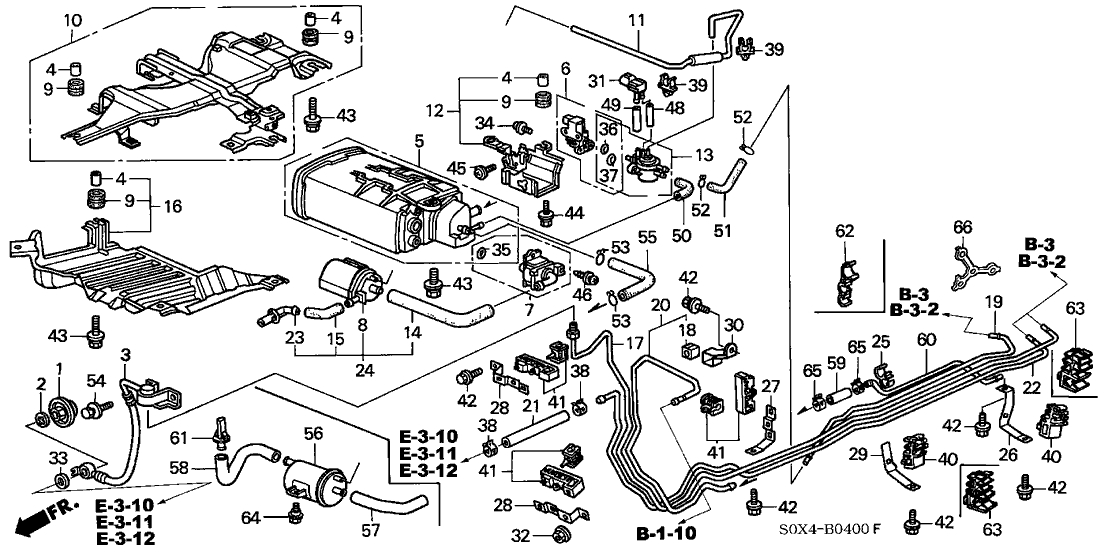17011-S0X-A50 - Genuine Honda Canister Assy. for 2000 Honda Odyssey Engine Diagram